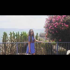 Draper James Blue Striped Dress